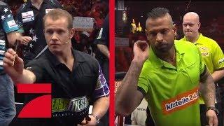 Tim Wiese & Michael van Gerwen vs. Fabian Hambüchen & Gary Anderson | Gruppenphase | Promi Darts WM