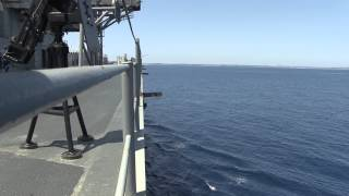 Trident Jaguar 2014: USS Mount Whitney Operating at Sea
