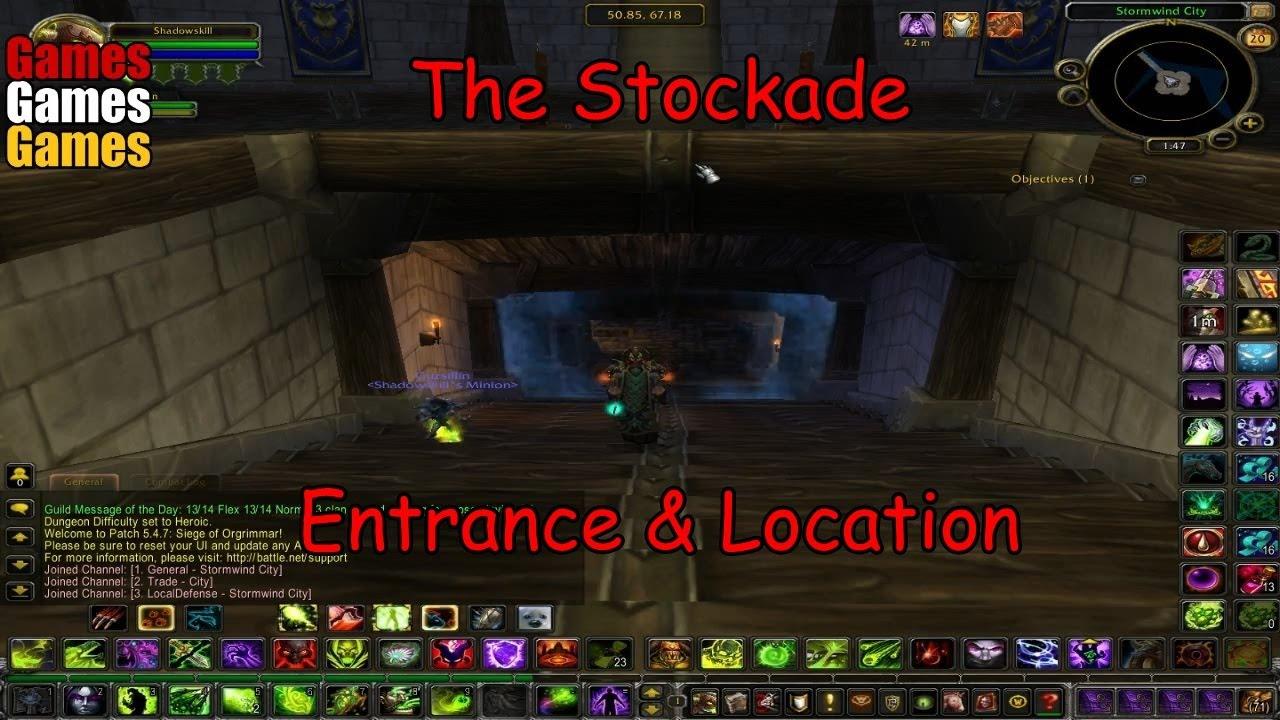 the stockade entrance location world of warcraft original dungeons youtube. Black Bedroom Furniture Sets. Home Design Ideas