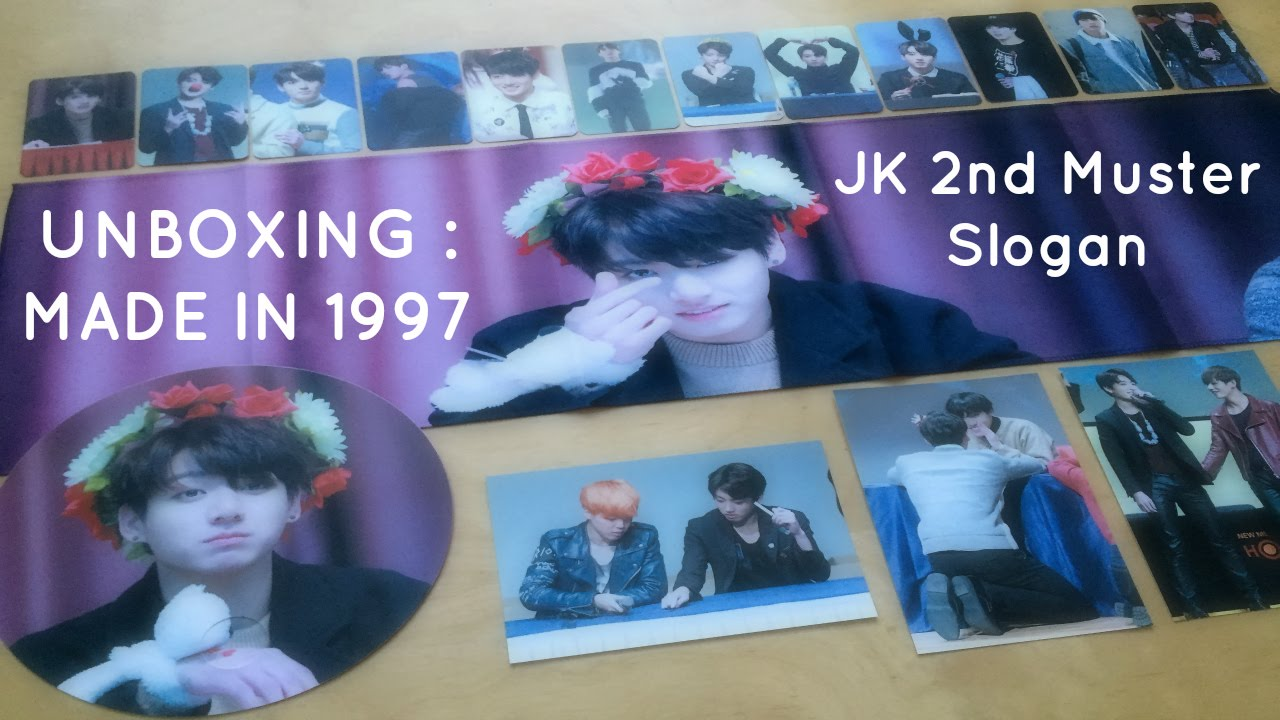 Fansite Unboxing : BTS Jungkook 2nd Muster Slogan by MADE IN 1997