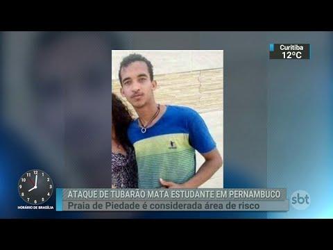 Morre estudante atacado por tubarão em praia do Grande Recife | SBT Brasil (04/06/18)