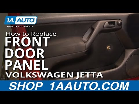 How to Replace Front Door Panel 93-98 Volkswagen Jetta