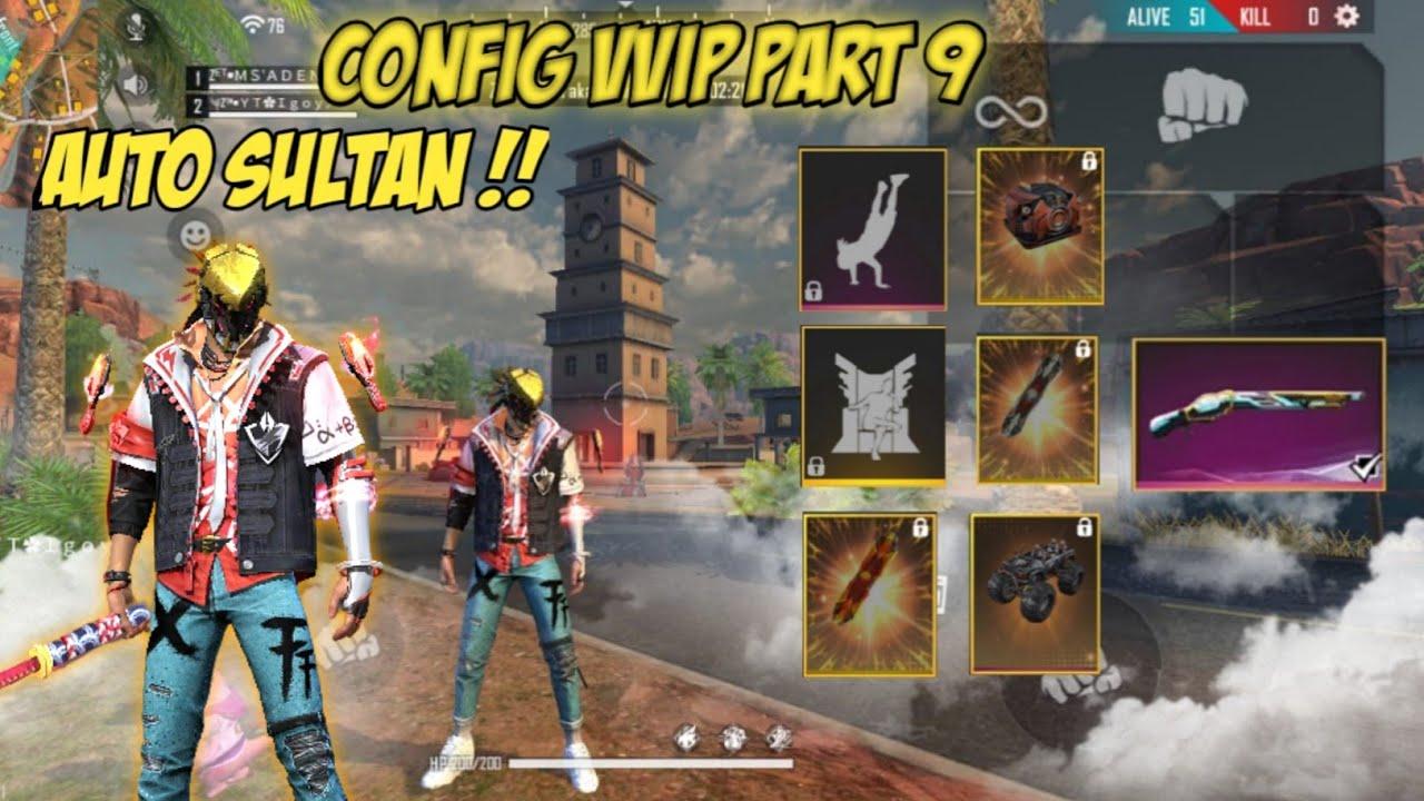 WAJIB TONTON !! CONFIG PAKET SUPER VVIP PART 9 ELITE PASS TERBARU + SKIN SENJATA LIMITED! Free Fire