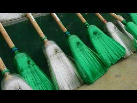 how to make a broom from plastic bottles homemade youtube