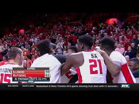 Illinois at Rutgers - Men's Basketball Highlights