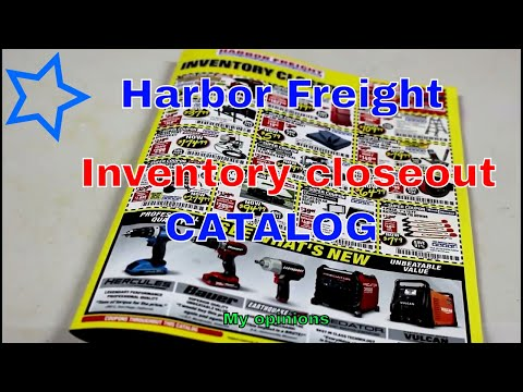 Harbor Freight tools Inventory closeout catalog November 2017 my opinions