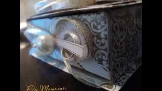 Открытка-коробочка ручной работы для дарения денег на свадьбу