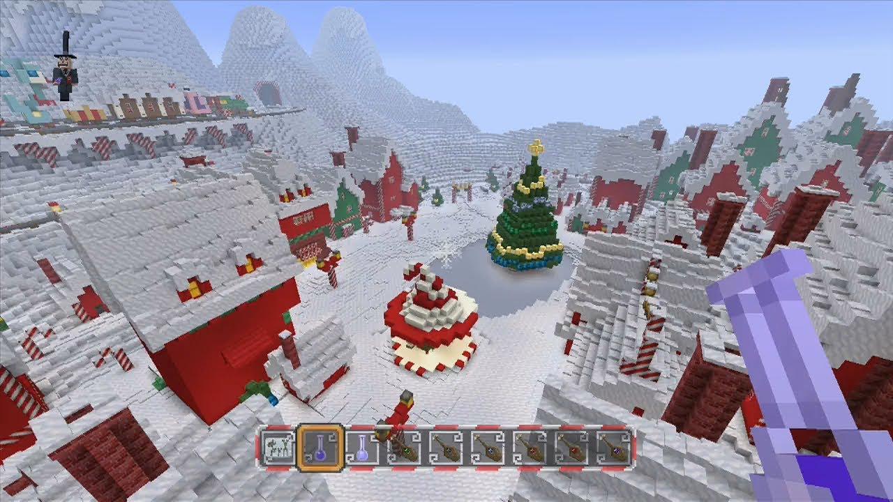 Christmas Minecraft World.Minecraft The Nightmare Before Christmas Mash Up Pack 12 Disc Locations