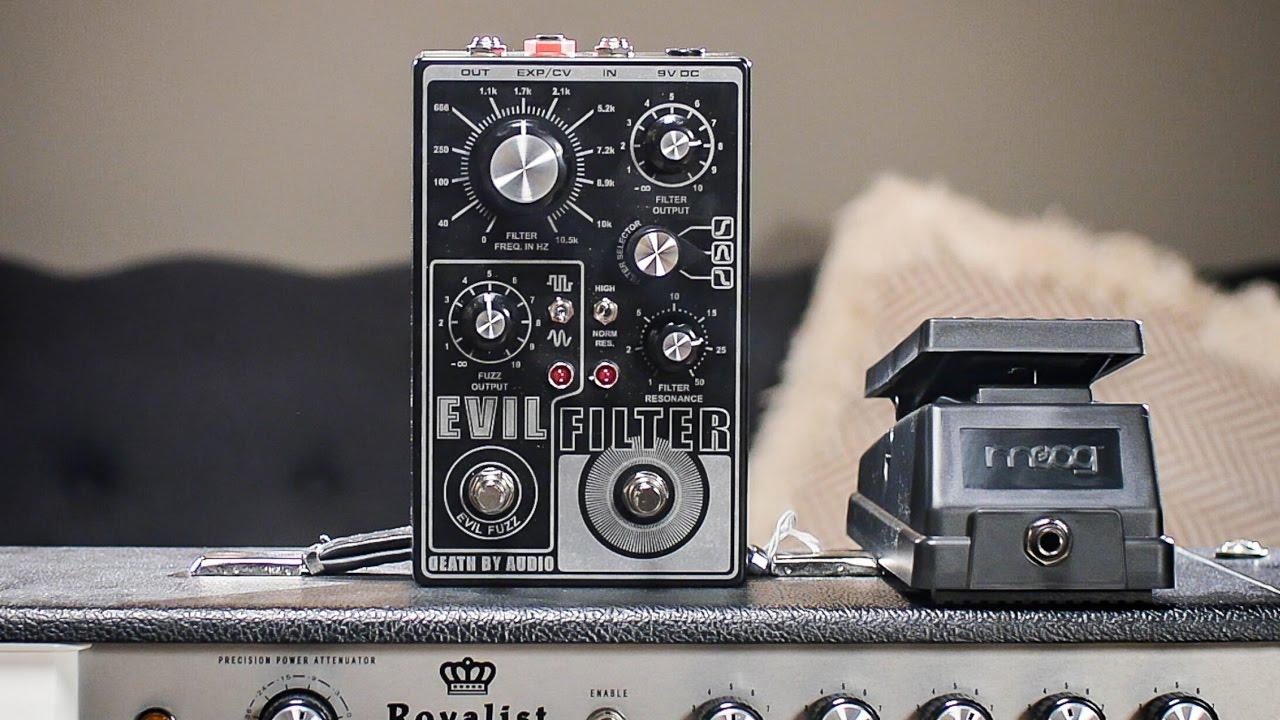 death by audio evil filter octave fuzz i cme pedal demo youtube. Black Bedroom Furniture Sets. Home Design Ideas