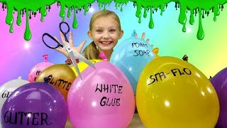 Making SLIME With BALLOONS!!! DIY Slime Balloon Tutorial!!!