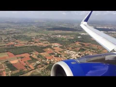 IndiGo airlines takeoff from BLR 6E416 VT-IAQ (with sharklets)