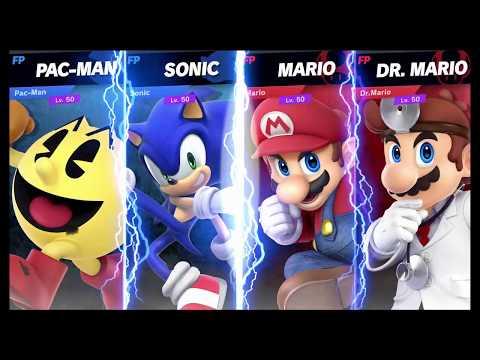 Super Smash Bros Ultimate Amiibo Fights Request #290 Pac Man & Sonic vs Mario & Dr Mario