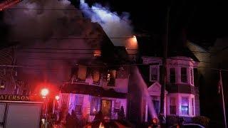 Paterson NJ Fire Dept 3rd Alarm Fire 42 Hopper St April 21st 2018