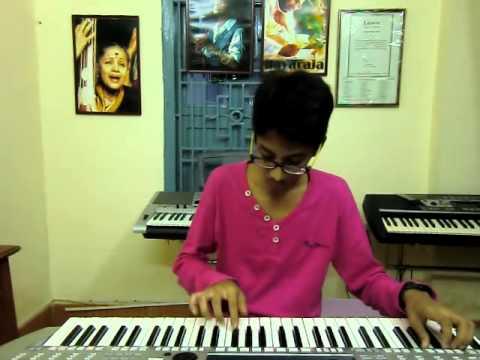 new telugu song nenu nuvvantu from orange on keyboard by k.sai teja