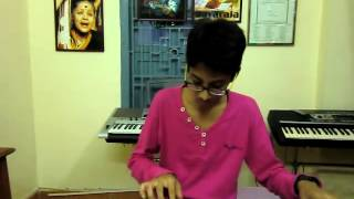 new telugu song nenu nuvvantu from orange on keyboard by k.sai teja