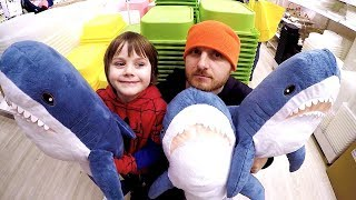 Doing Shopping at IKEA Supermarket & Buy Toys | Playtime in Store with TimKo Kid