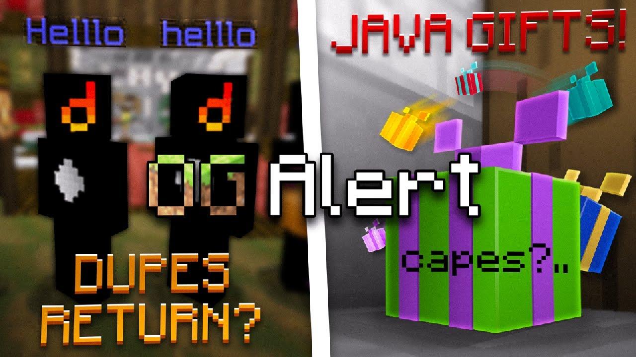 OG Alert - Dupe Accounts Return, Gifts from Mojang (Ft. MinecraftOGHunter)