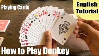 #playingcardsenglish How to play donkey using playing cards English / How to play playing cards