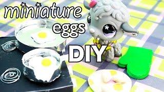 miniature eggs and scrambled eggs DIY