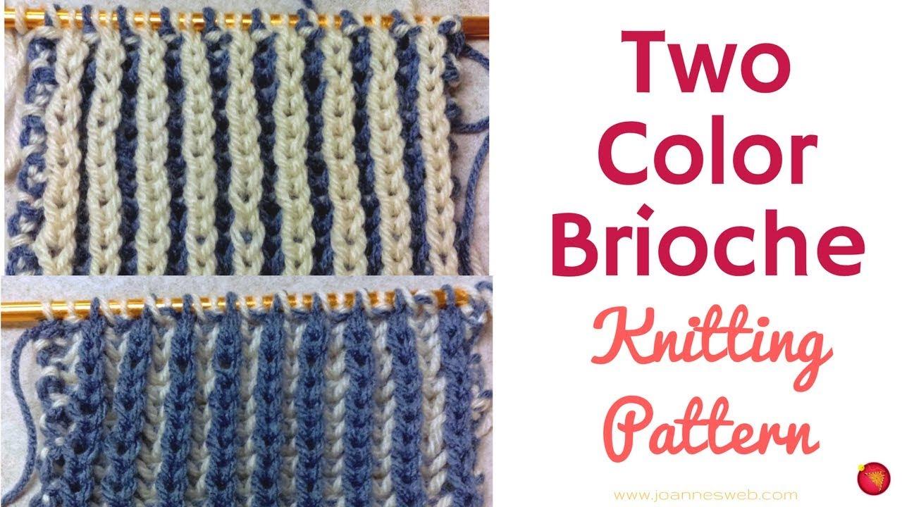Two Color Brioche Knitting Pattern - Easy Brioche Knit - YouTube
