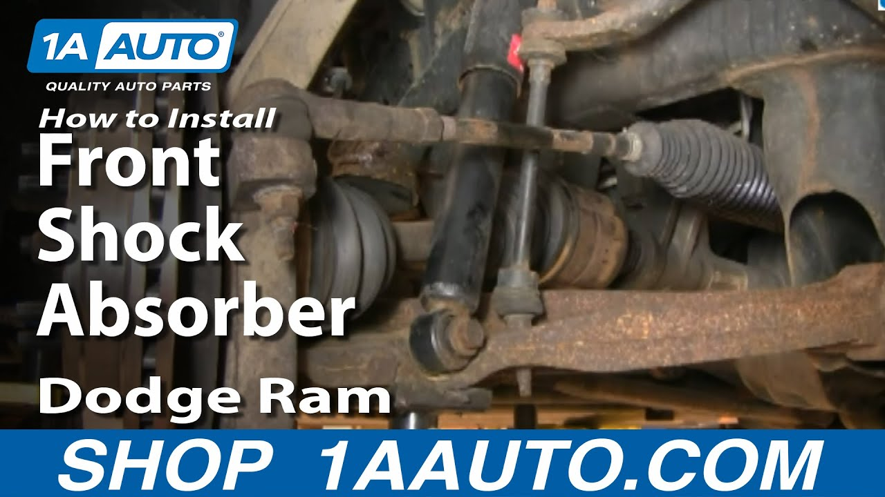 how to install repair replace front shock absorbers dodge ram 02 08 1aauto com youtube [ 1920 x 1080 Pixel ]