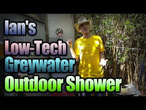 Ian's Low-Tech Greywater Outdoor Shower