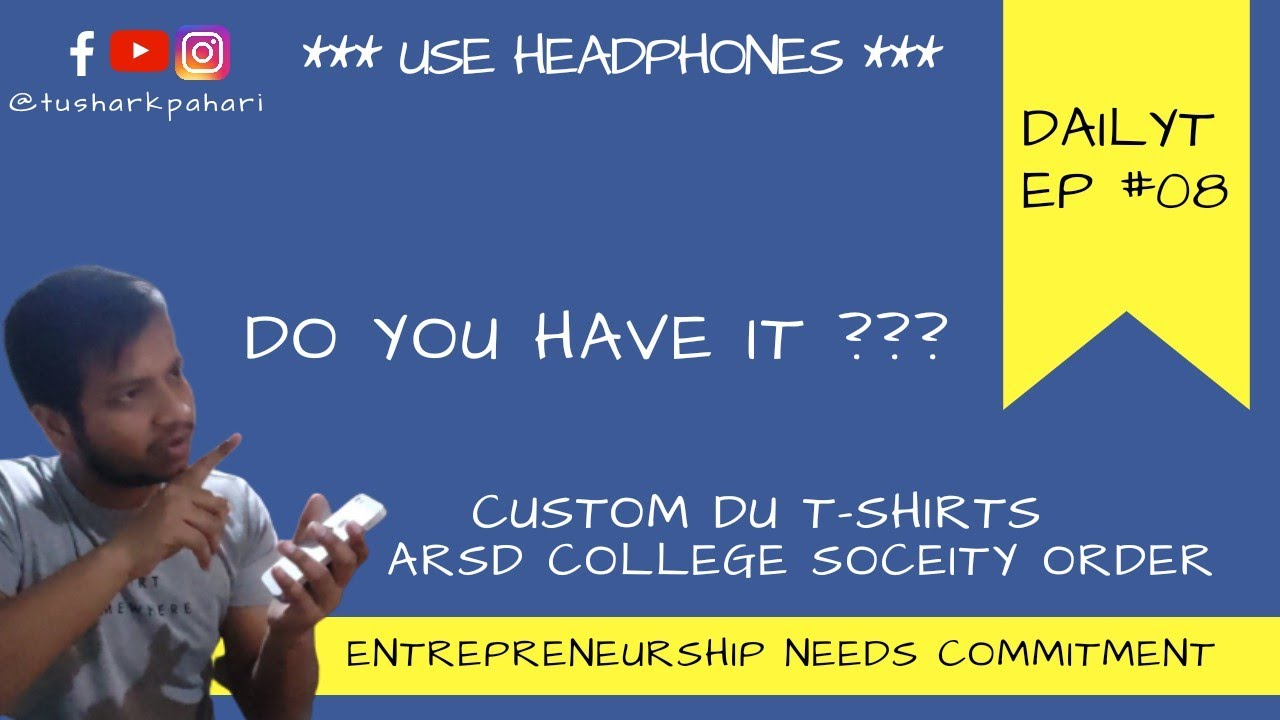 Entrepreneurs does not have Nights | ARSD College Order at Printmatte | DailyT EP #08