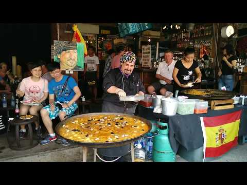 Paella at Viva8 JJ market Bangkok