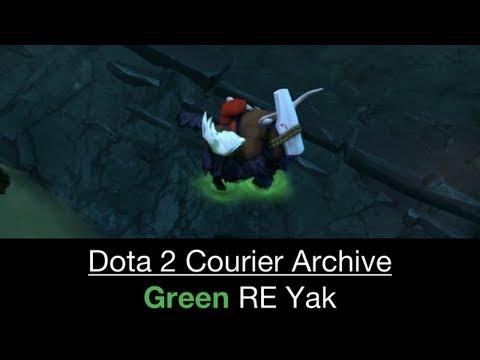 Dota 2 Courier: Unusual Yak (Resonant Energy - 81 179 80 Green)