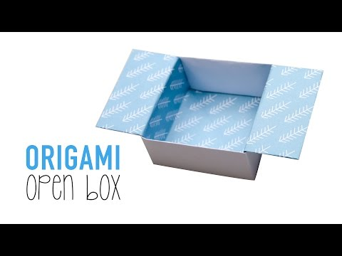 Easy Origami Open Box Tutorial - DIY - Paper Kawaii