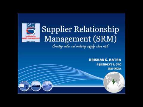 Webinar on Supplier Relationship Management