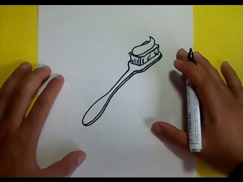 Como Dibujar Un Cepillo De Dientes Paso A Paso How To Draw A