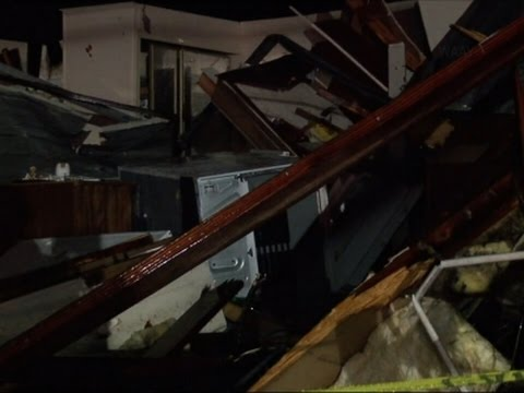 Raw: Deadly Storms Strike Northern Alabama