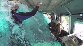 "U.S. Marine Modular Amphibious Egress Trainer - ""Helo Dunker"" Video"