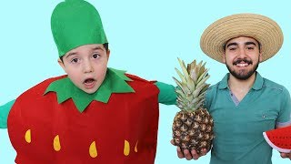 Sihirli Meyveler! Yusuf Pretend play Supermarket | Funny Kids Video