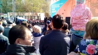 выступление мэра Новосибирска Локтя на 9 мая