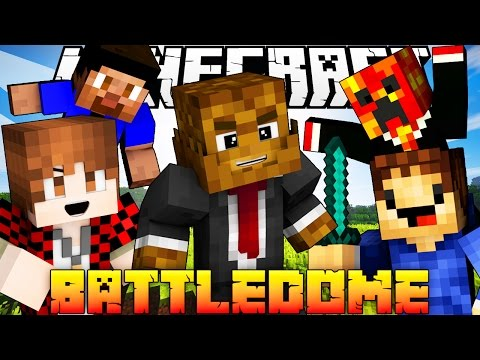 "Minecraft BATTLEDOME Pack VS Fans ""GLITCHED WORLD"" #1"