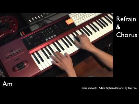 One And Only - Adele Keyboard Tutorial