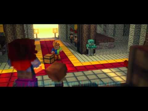 Fallen Kingdom Minecraft Music Video With Lyrics on Screen
