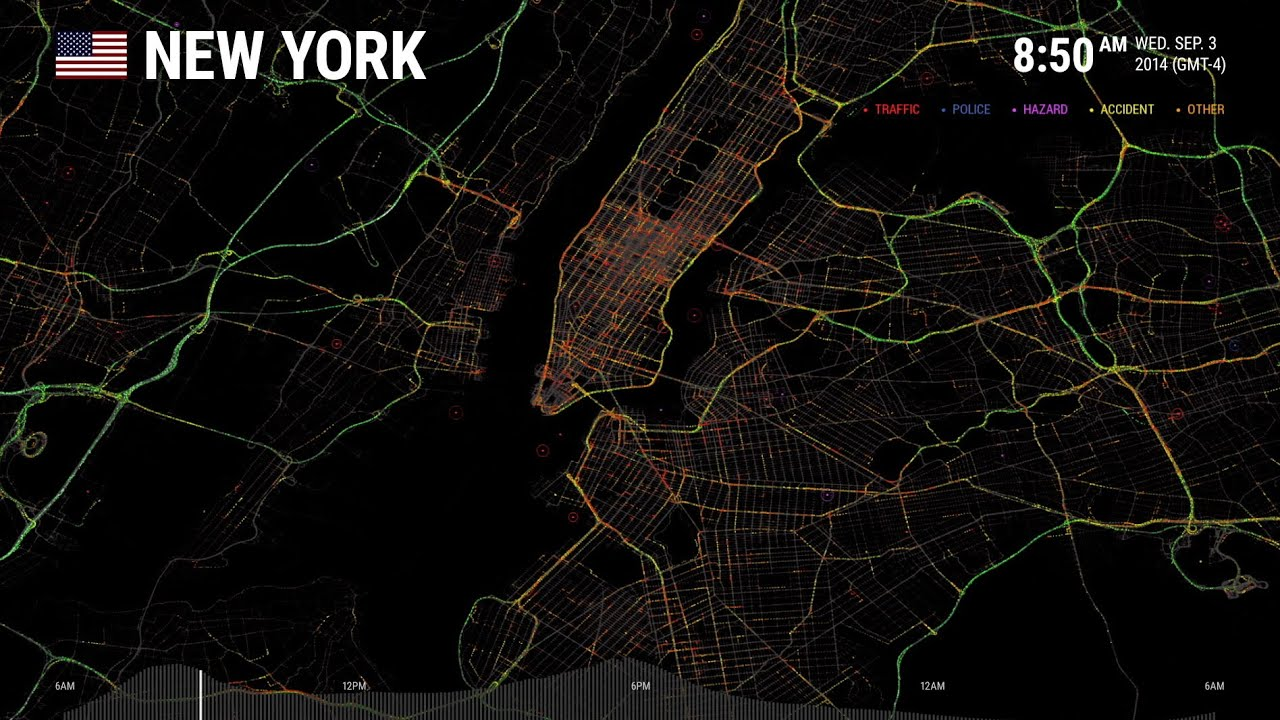 Data Visualization - New York City: One Day on Waze | Waze
