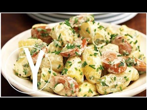 Kartoffelsalat ensalada alemana de patata oktoberfest - Ensalada alemana de patatas ...