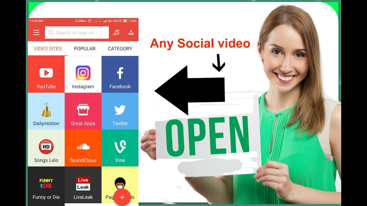 How to Download Facebook,Twitter, Instagram,dailymotion,Videos With a  single App  SB  Hindi/Urdu