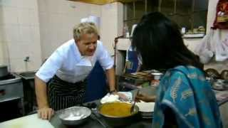 Gordon Ramsay Attempts Indian Cooking