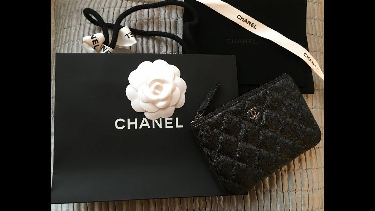 15b7220c08f7 Luxury Haul & Chanel 18c black iridescent caviar Unboxing - YouTube