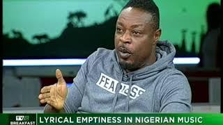 TVC Breakfast Oct. 20th   Lyrical Emptiness in Nigerian Music with Eeedris Abdulkareem