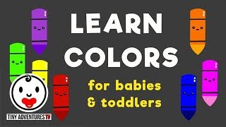 Learn Colors - Simple Learning Video for Baby Toddler Kids  (Teach Colors)