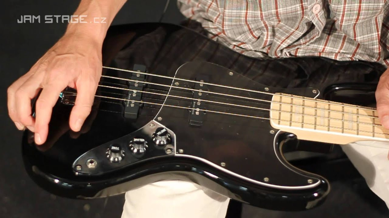 Squier Vintage Modified Jazz Bass 77 Black Maple Youtube