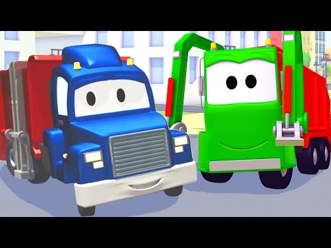 The Garbage Truck and Carl Transform | Cars & Trucks construction cartoon for children