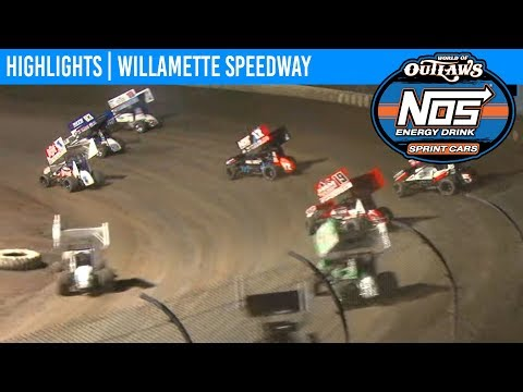 World of Outlaws NOS Energy Sprint Car Series Feature Event Highlights from Willamette Speedway in Lebanon, Oregon on September 4th, 2019. To view the ... - dirt track racing video image