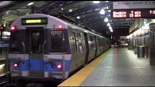 ᴴᴰ MBTA Blue Line Action at Airport